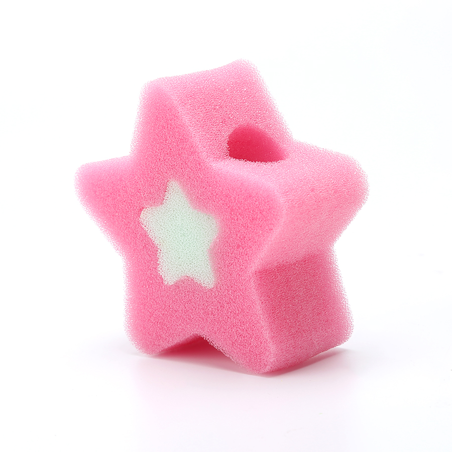 Star Shape Sponge Cleaning Pad Dish Scrubber
