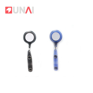 Blue yoyo id card reel alligator clip plastic badge reel with fix functions