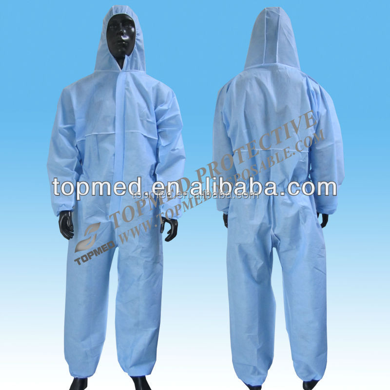 disposable painters coveralls with hood, yellow one-piece workwear, disposable overall
