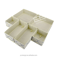 Foldable Cloth Storage Box Closet Dresser Drawer Organizer Cube Basket Bins Containers Divider Adjustable for Underwear, Bras