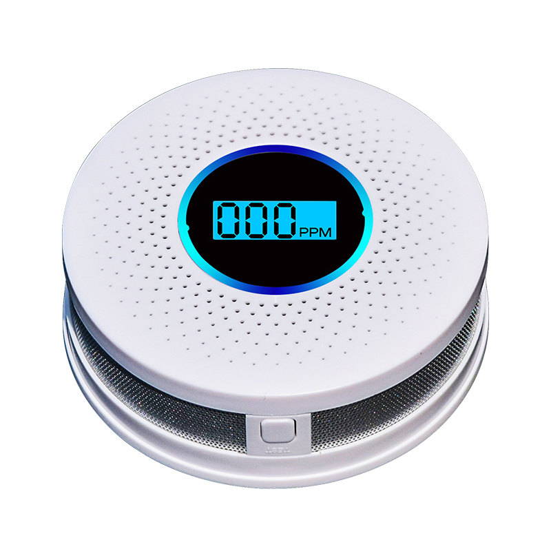 EEN Batterij Operated Rook CO Alarm Detector Combinatie Rook en Koolmonoxide Detector met digitale display