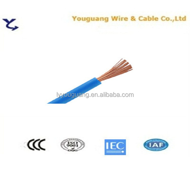 building electrical cable single core strander copper wire BV/BVR electrical wires 1 1.5 2.5 4 6 10mm2