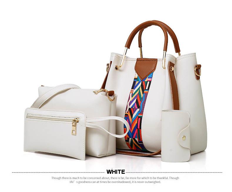 ba46bec295fd new product ideas 2018 china supplier 4 pieces set handbags for women  ladies wallet ladies pars