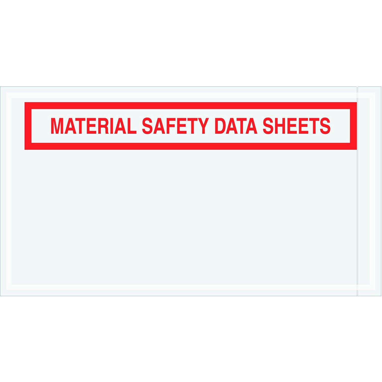 "Tape Logic TLPL464 Material Safety Data Sheets Envelopes, 5 1/2"" x 10"", Red (Pack of 1000)"