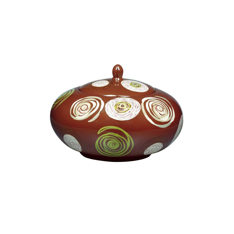 Kichler Lighting 78085 Porcelain Dharma Round Decorative Jar with Lid, Hand-Painted Porcelain