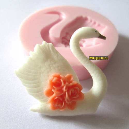 Swan silicone molds for cake decorating jelly dessert ...