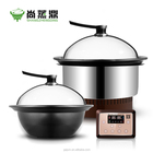 Smart chinese pot built in table top seafood fast cooker