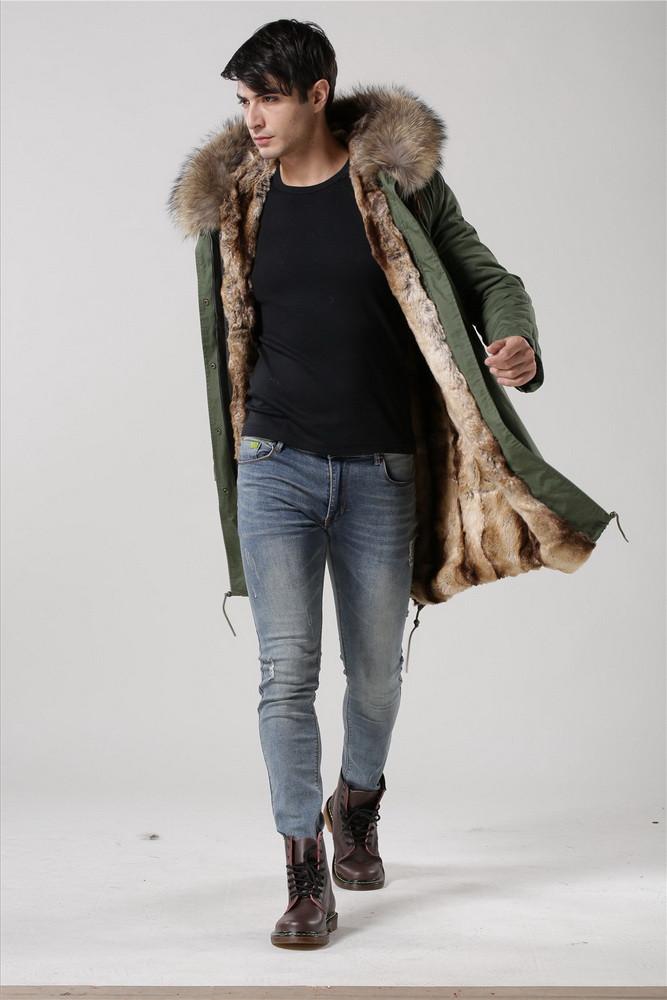 Real Fur Parka Mens