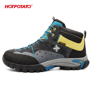 hot selling nice waterproof suede trekking boots women HP6033 made in china