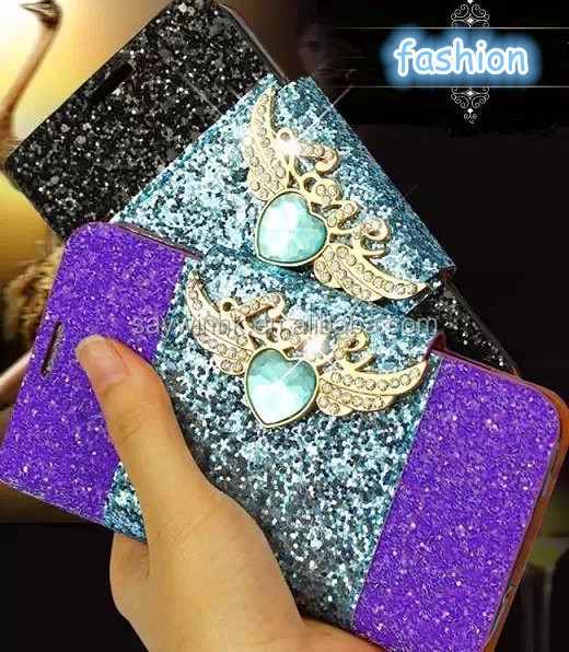 Novel style bling frosted bicolor phone case