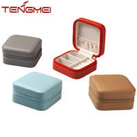 Small jewelry box organizer display storage case for rings and earrings