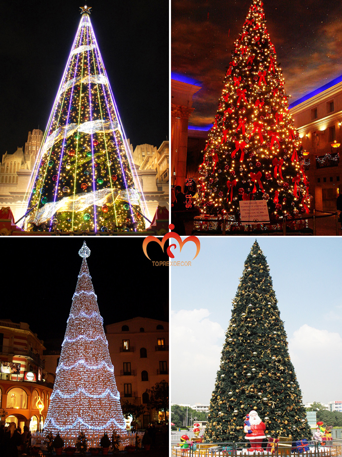 Mall Pvc Wire Lights Christmas Tree Decor Outdoor Free Standing ...