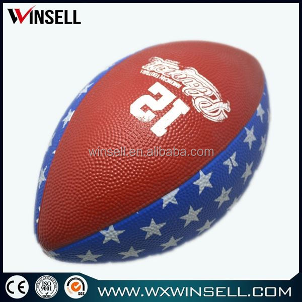 exercise colorful custom logo print small rugby ball