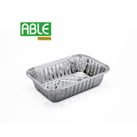 Disposable deep aluminum foil container for baking