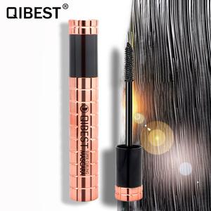 QIBEST waterproof makeup mascara private label waterproof fiber mascara