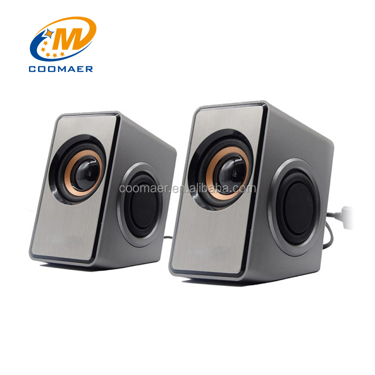 Surround Sound 3 Watt 3.5mm Stereo Woofer 2.0 PC Computer 2 Inch Speaker
