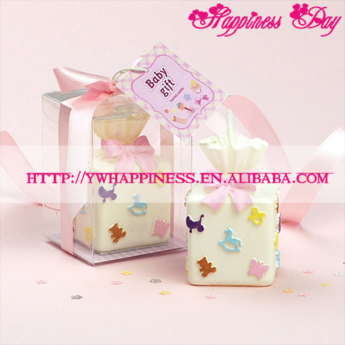 Cute Gift Box Shape Baby Girl Candle Wedding Party Favors Gift Promotion Cake Decor Birthday Pink Cake Candles