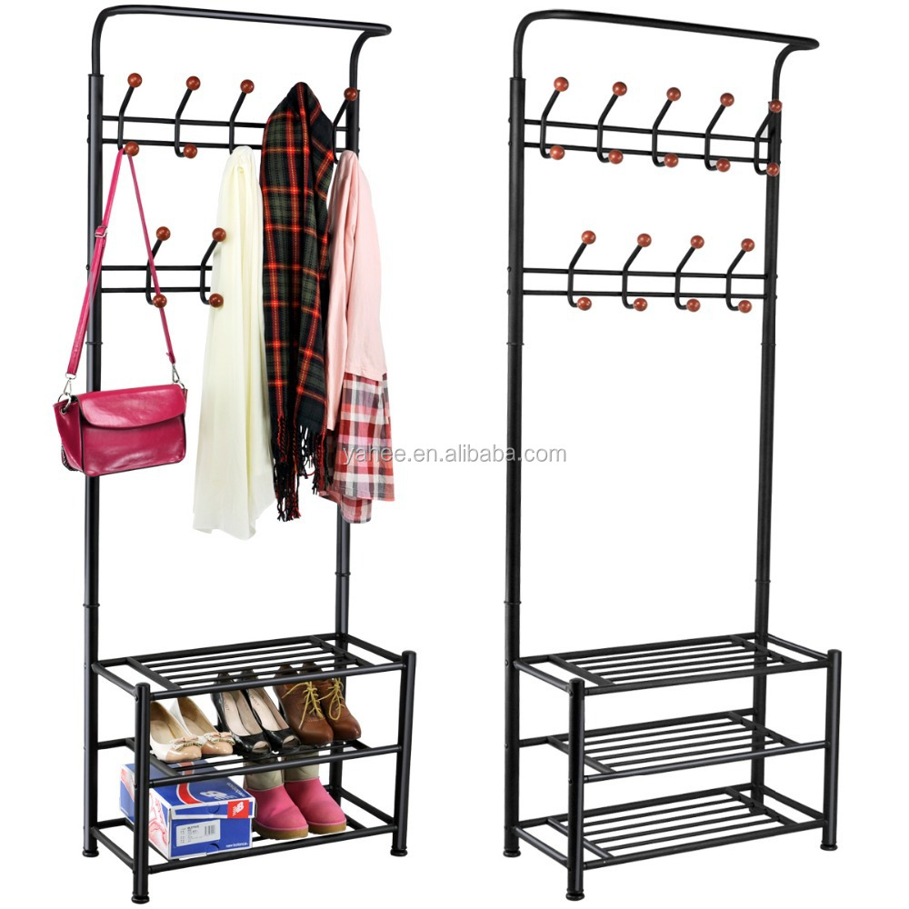 Multi-purpose New Metal 18 Hanger Hooks Shoes Hats Bags Organizer Hanger Rack