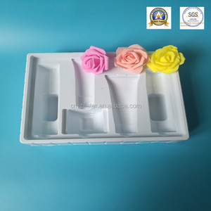 white PVC blister tray for comestic products isert tray for cosmestic products