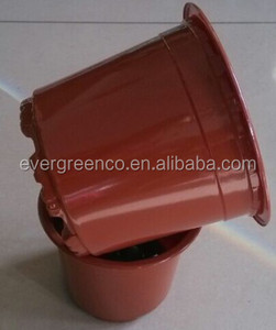 colorful flower pot new material plant pot green and red plastic flower pot