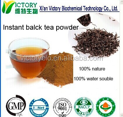 ISO Factory supply 100% nature instant black tea powder