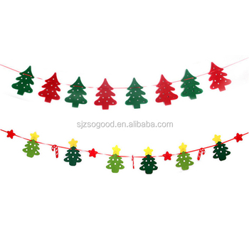 Christmas Customized Bunting Hanging Banner Manufacture Non-woven 3m Long Xmas  Flags Christmas Santa Flag 255c1081fe35