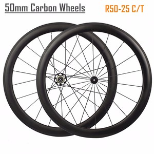 Ultra Light 700C 50mm Clincher Carbon Wheels 25mm width Road Bike Wheels Bicycle Wheelset