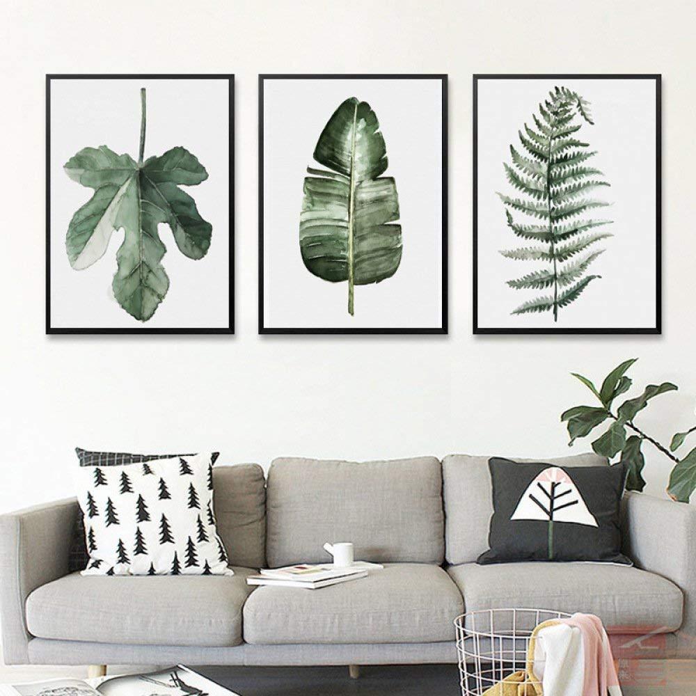 PLLP Nordic Decorative Painting, Living Room Modern Minimalist Fresh Paintings, Pastoral Green Plants Flowers, Multiple Paintings, Bedroom Warm Creative Combination Painting