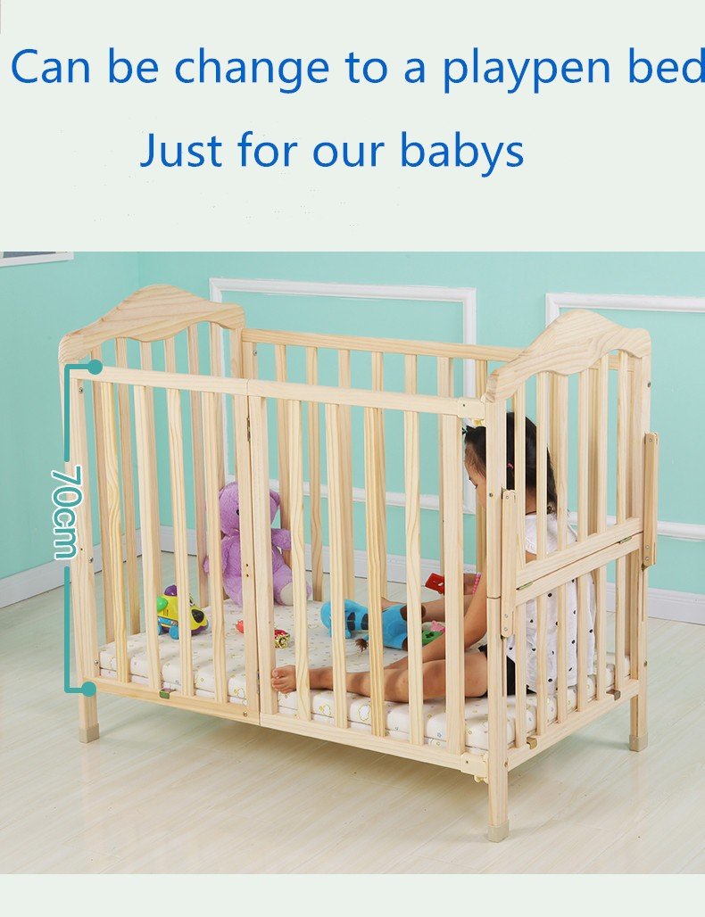 Baby Cot Bed Prices Cost-effective,Movable Modern Wooden ...