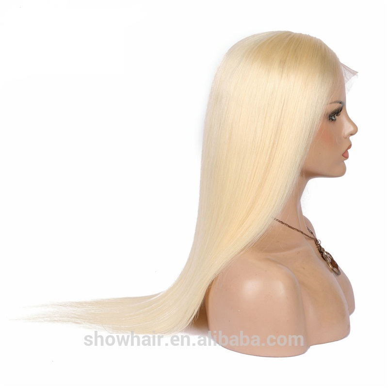 High quality honey blonde brazilian full lace wig 100% human hair 613 фото