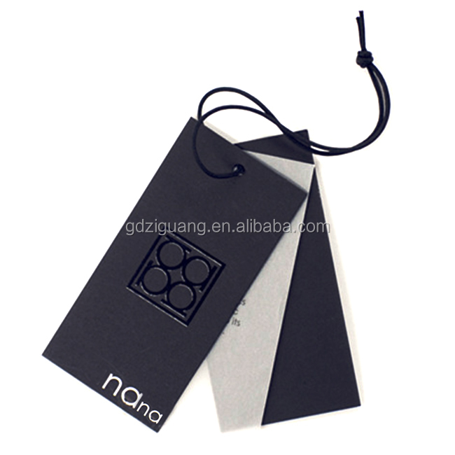 Luxury cardboard hang tag for t-shirt