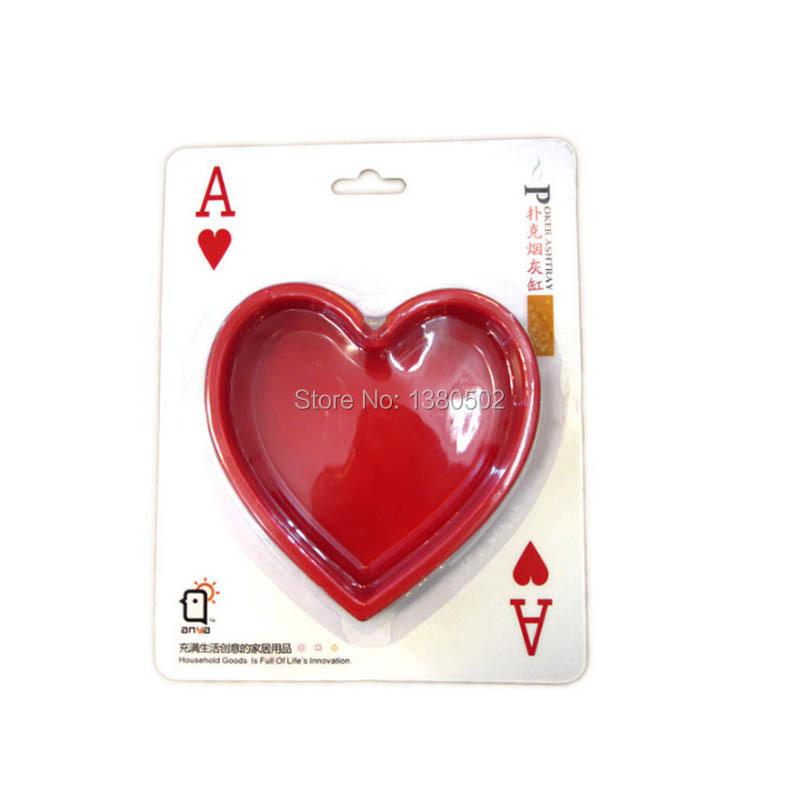 Самые продаваемые покер форма прохладный экологичный Cinzeiro для офиса бытовой подарок пепельница