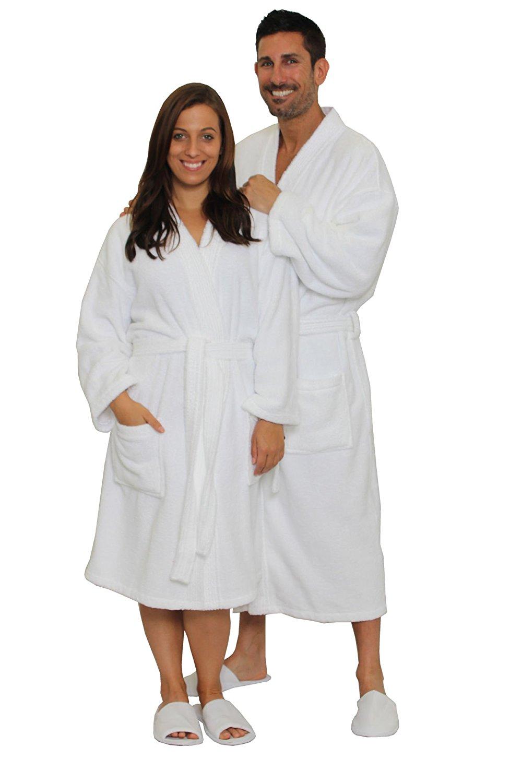Get Quotations · Terry Cloth Robe 100% Cotton Terry Kimono Bathrobe Terry  Kimono Collar Spa Robe 88f76f90c