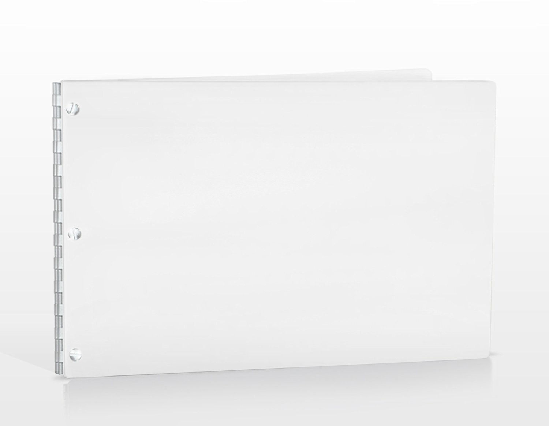 11x17 Landscape Glossy White Portfolio with Silver Hinges. Portfolio book, Screw post portfolio, Portfolio Presentation. Engraving services are not included.