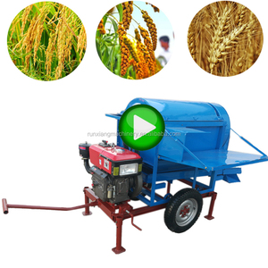 Small Wheat Sorghum Soya Bean Teff Tractor Operated Paddy Treadle Type Of Soybean Thresher