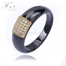 wholesale products gold jewelry wedding rings black ceramic men ring