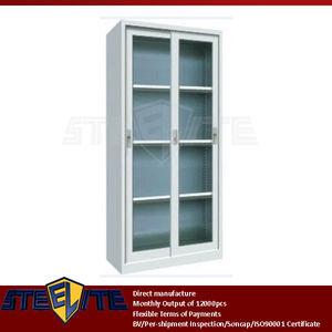Sliding Gl Door Stainless Steel Display Cabinet Supplieranufacturers At Alibaba