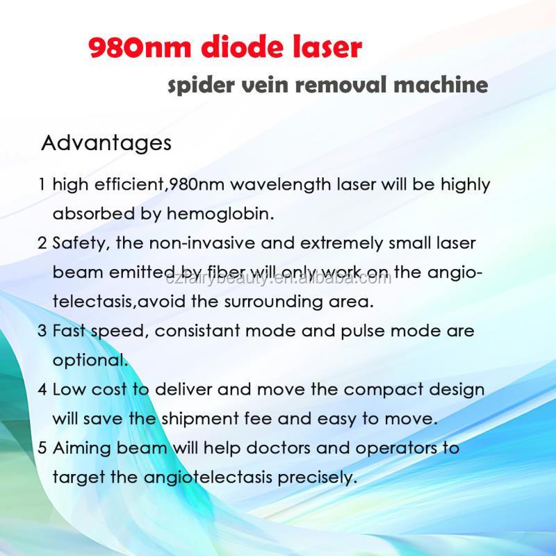 高品質 980 nm レーザー血管除去機