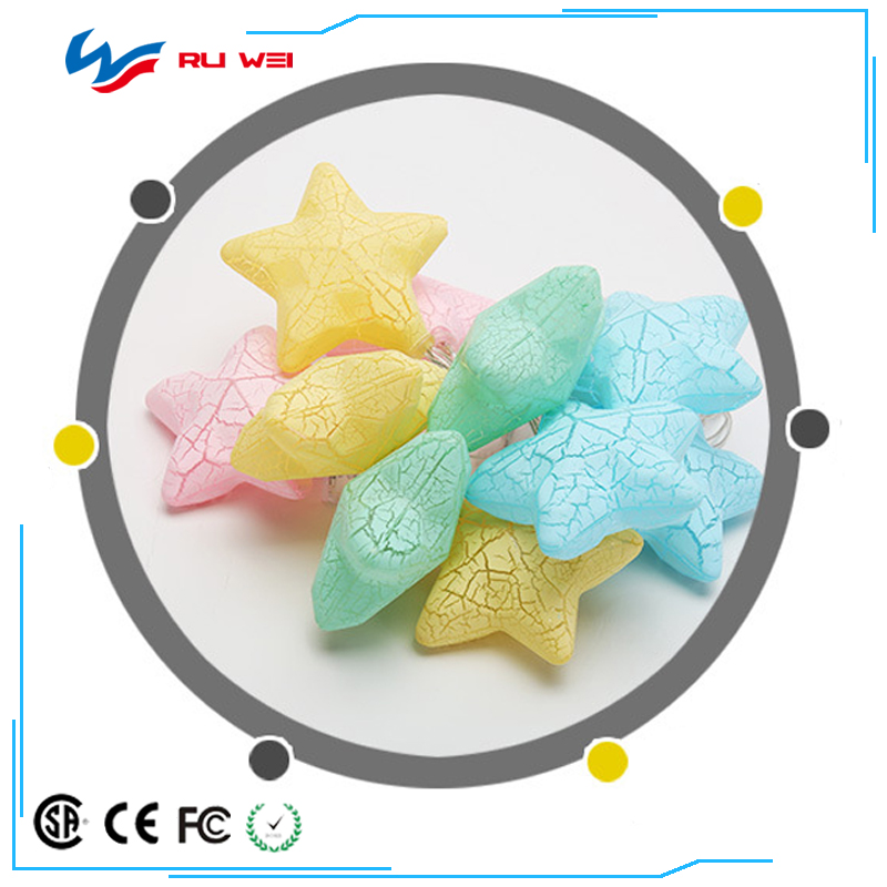 Factory direct sales led Christmas decoration string lights festive color string curtain ice strip star wedding decoration lante