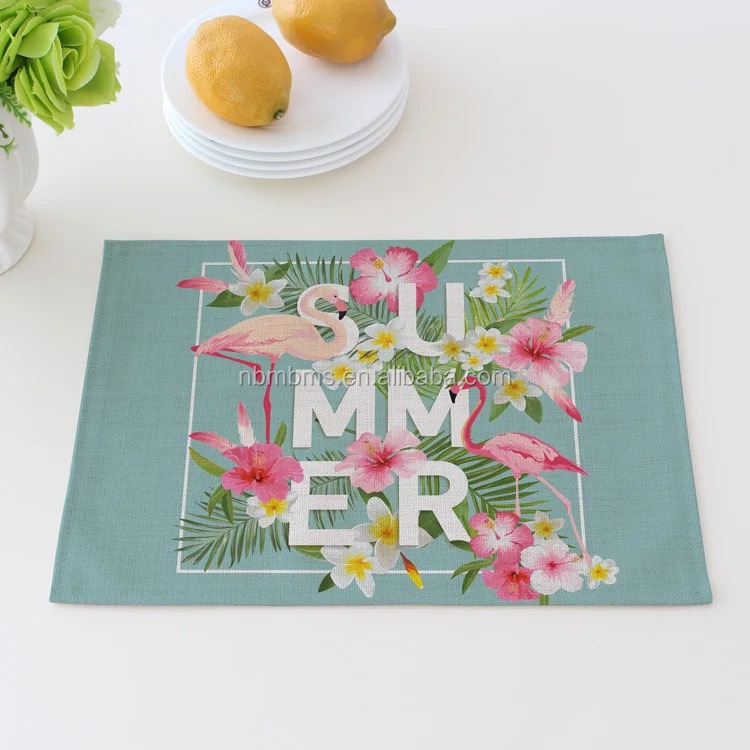 QJMAX Home Fashion Digital Printing Custom Placemat