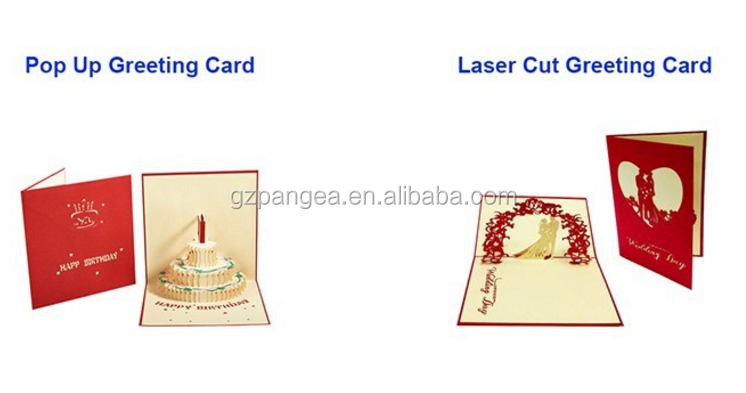 Customized Colourful Printing Weding Cards wholesale 3D Wedding Invitations Greeting Cards