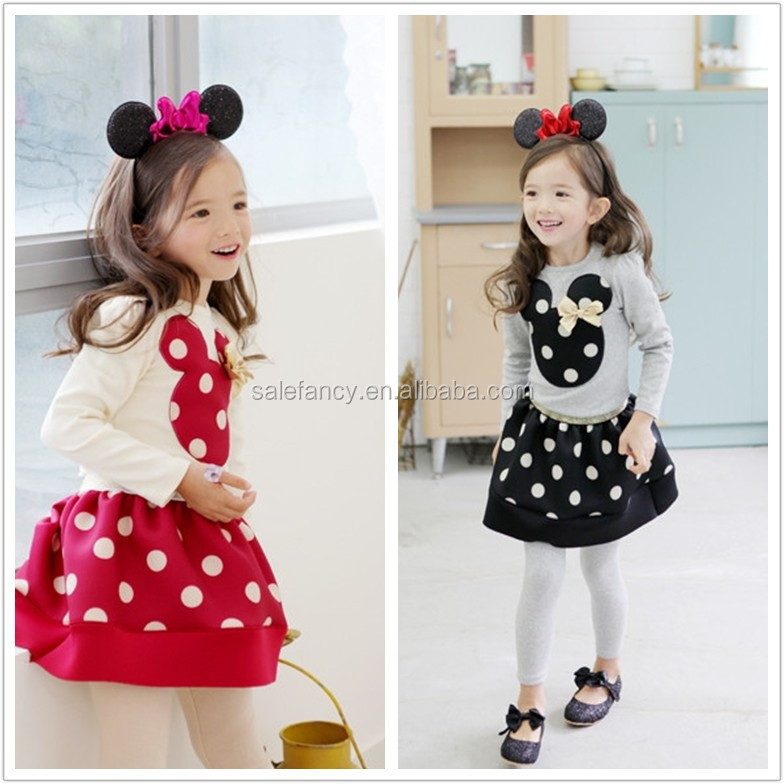 80bd6aadc New Baby Girl Summer Model Girl Dress Mickey Mouses Qgd-1649 ...