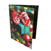 Sedex 4P Audited factory Hot sale Custom New Year celebration UV Printing 3d lenticular greeting card