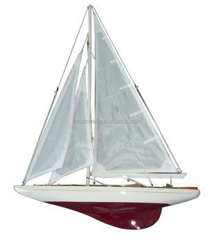 Wooden Half Hull Sail Boat Model,Sailboat Model,Yacht,Ship