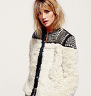 2019 wholesales Europe style short rabbit fur coat Genuine fur rabbit fur stitching bead jacket