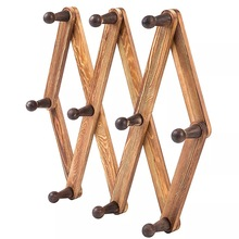 Vintage coat hook พับได้ wood ตกแต่ง coat hook rack coat hook