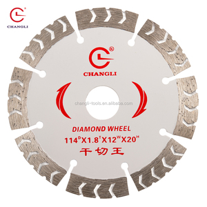 "4.5"" 114mm Segmented Dry Cutting Circular Saw Blades Power Diamond Blade for Concrete Stone Brick Masonry"