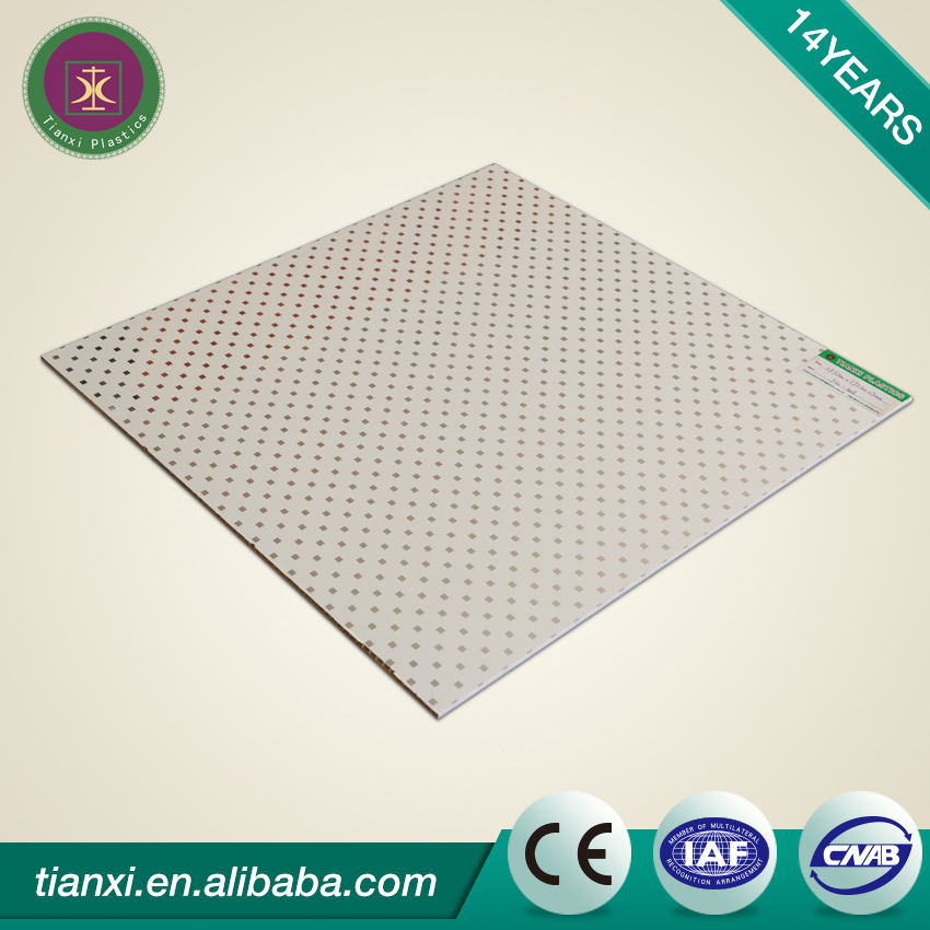 Chinese brand good price thermal insulation 595*595mm pvc ceiling wall panels