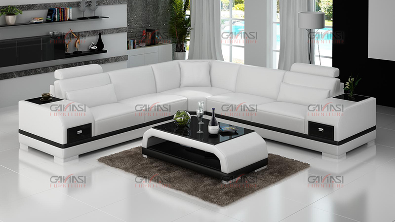 GANASI simple corner sofa design modern,corner sectional sofa set ...