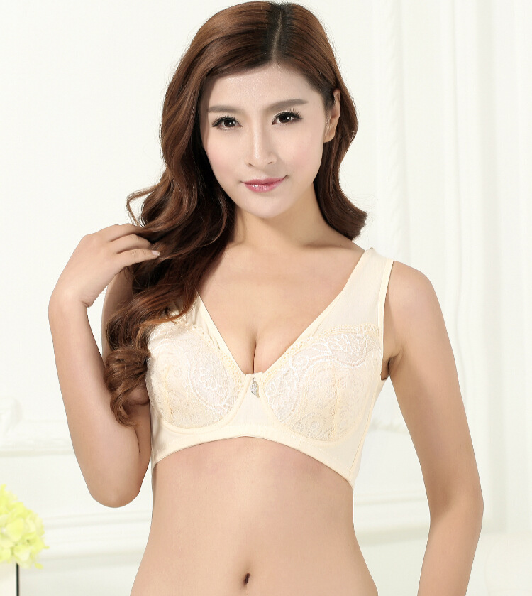 a0ed9583cd9 Get Quotations · Hot sale Thin plus size lace bra cup adjustable push up  side gathering furu mm Large